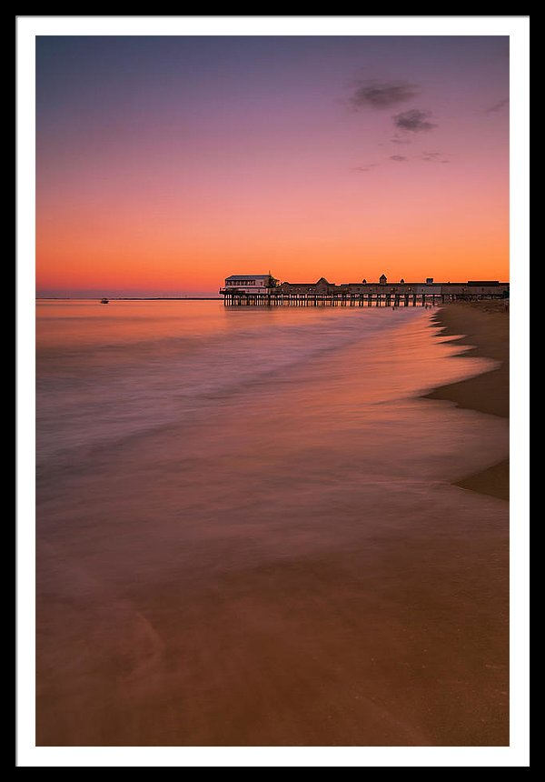 Maine Old Orchard Beach Pier Sunset
