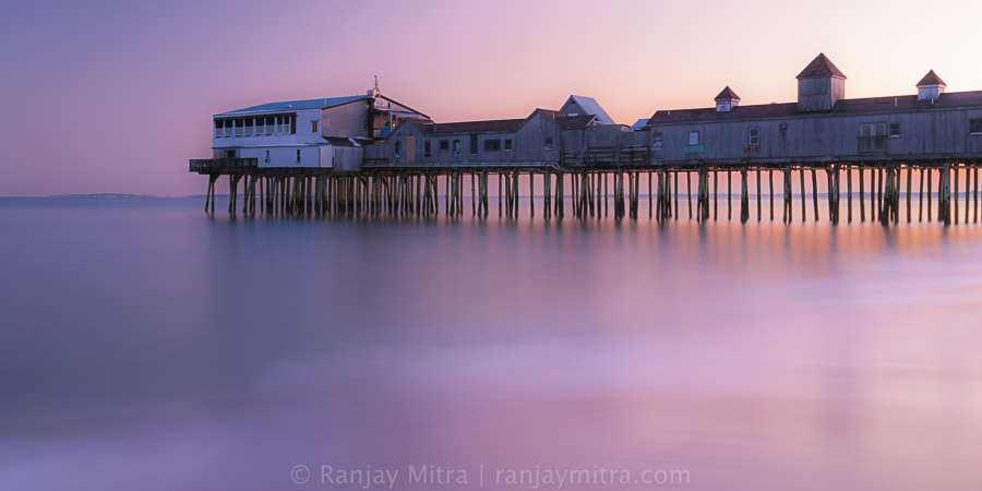 20130106_DSC8467 Sunset at Old Orchard Beach Pier in Maine