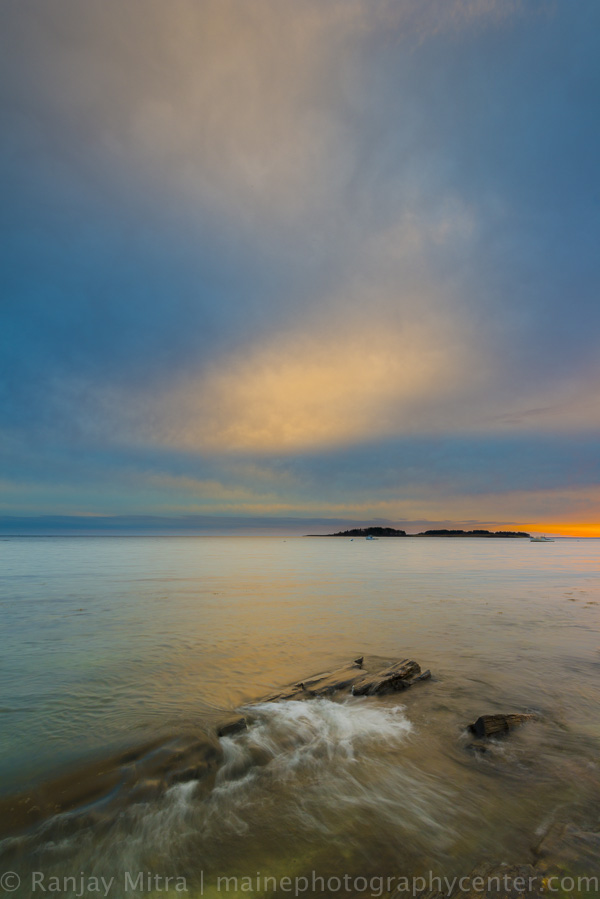 Extraordinary coastal sunsets of Maine