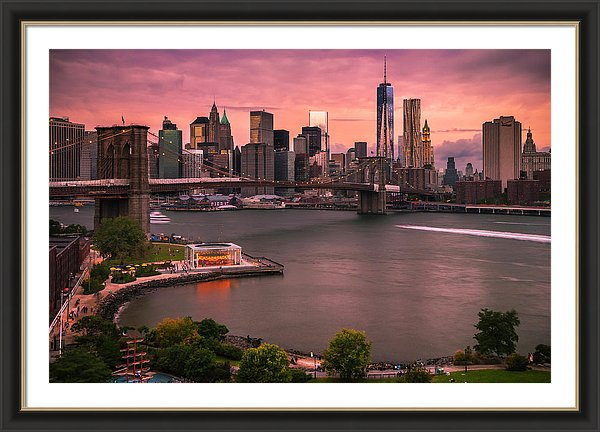 Brooklyn Bridge Sunset Fine Art Print Ranjay Mitra