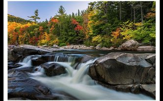 Fall Foliage Along Swift River In White Mountains New Hampshire