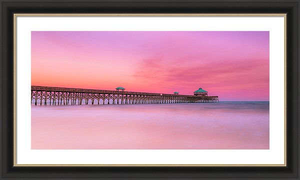 Fine Art Ranjay Mitra Folly Beach Pier Panorama North Carolina Atlantic Coast