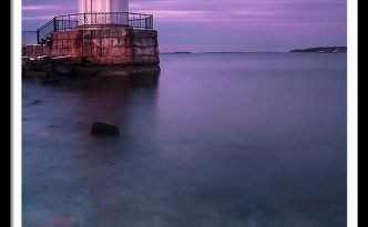 Maine Buglight Lighthouse At Sunset