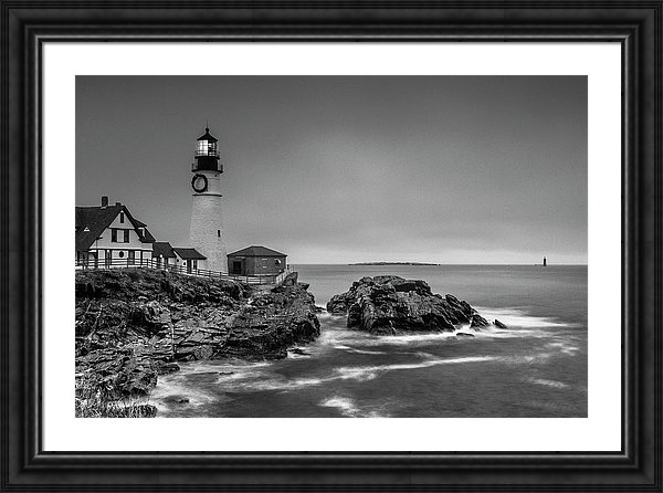 Maine Lighthouses Portland Headlight Fine Art by Ranjay Mitra
