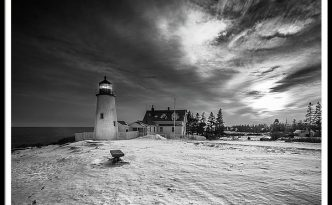 Maine Coastal Storm Over Pemaquid Lighthouse