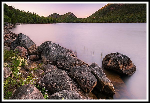 Maine Jordan Pond Bubble Mountain Sunset