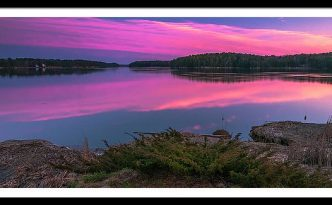 Maine Kennebec River Sunset Panorama