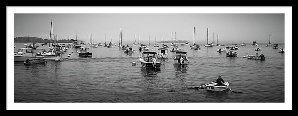 Maine Misty Winter Morning At Falmouth Harbor