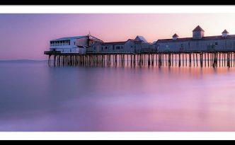 Maine Oob Pier At Sunset Panorama