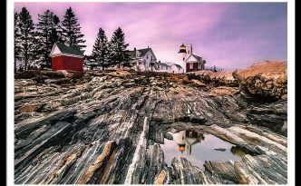Maine Pemaquid Lighthouse Reflection In Summer