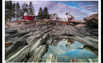 Maine Pemaquid Lighthouse Reflection
