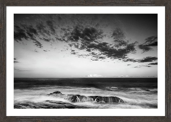 Black & White Fine Art Photographer Ranjay Mitra Maine Rocky Coastal Photo