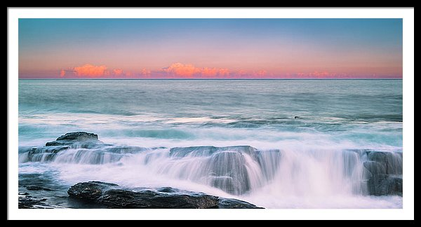 Maine Rocky Coastal Sunset Panorama