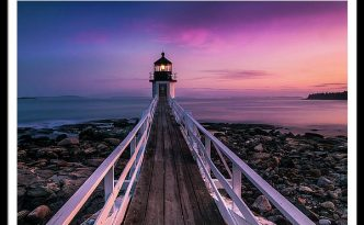 Maine Sunset At Marshall Point Lighthouse