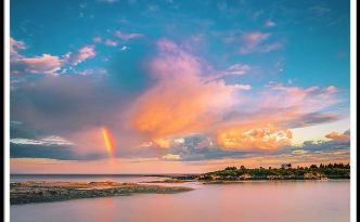 Maine Sunset - Rainbow Over Lands End Coast