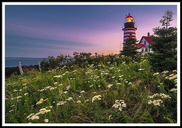 Maine West Quoddy Head Lighthouse Sunset