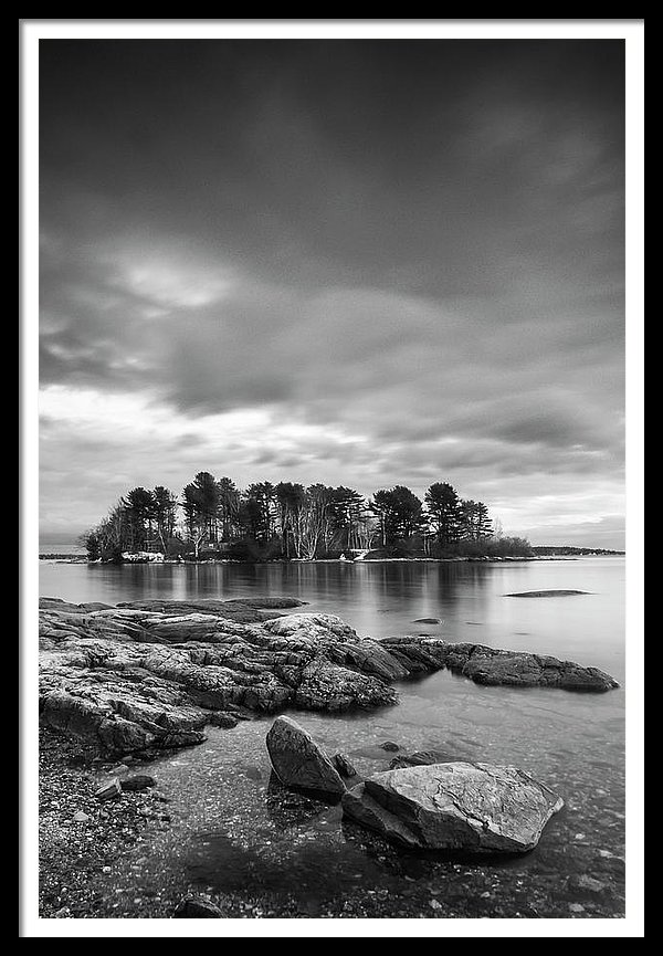 Maine Winslow Park Rocky Maine Coast BW