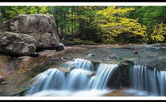 New Hampshire Dianas Bath Waterfalls In Fall Foliage