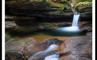 New Hampshire Sabbaday Falls Panorama