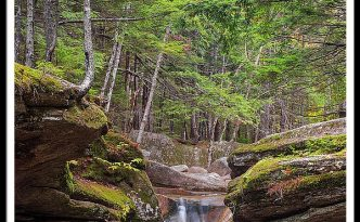 New Hampshire Upper Sabbaday Falls And Fall Foliage
