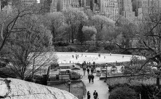 Central Park New York City Skating Rink Fine Art by Ranjay Mitra